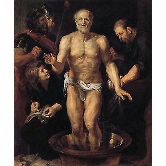 The Death of Seneca ,Peter Paul Rubens, 60x50 cm