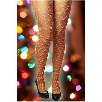 Bas et jaune vif de jambe accessoires Fishnet stockings