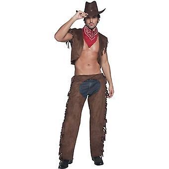 "Fever  Ride Em High Cowboy Costume, Chest 38""-40"", Leg Inseam 32.75"""