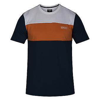 Hurley Dri-Fit Blocked Short Sleeve T-Shirt in Armory Navy