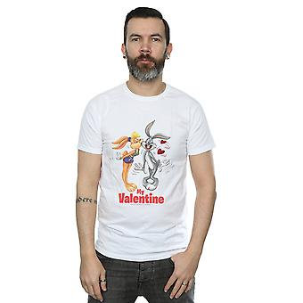 Looney Tunes Men's Bugs Bunny And Lola Valentine's Day T-Shirt