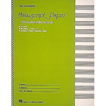 Filo standard associato carta manoscritto: Copertina verde