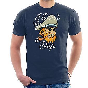 Capitano non darà t-shirt uomo una nave
