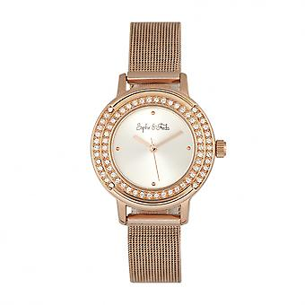Sophie & Freda Cambridge Bracelet montre w/Swarovski cristaux - or Rose