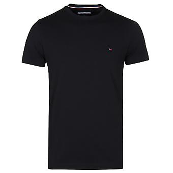 Tommy Hilfiger Black Slim Fit Stretch Cotton T-Shirt