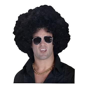 High Afro Black Wig For Adults