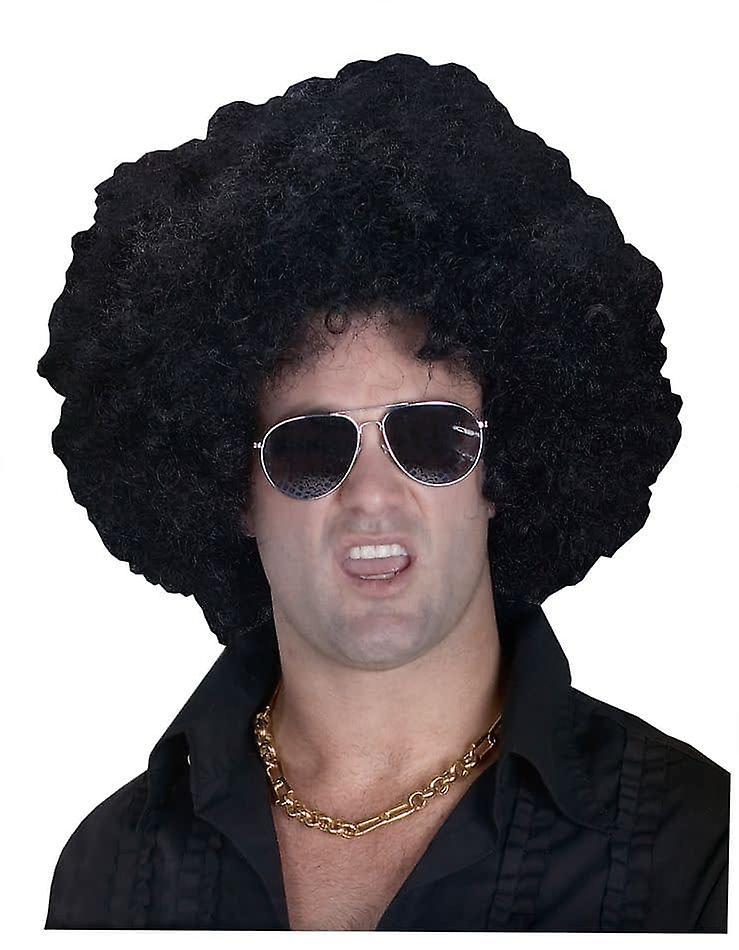 Høy Afro svart parykk For voksne