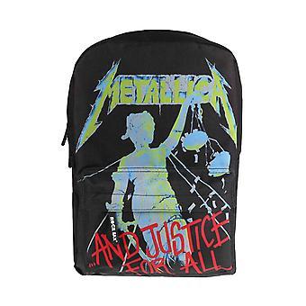 Nuevo negro oficial Metallica mochila y justicia para todos banda insignia mochila