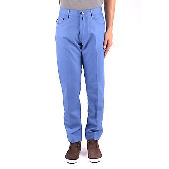 Jacob Cohen Ezbc054313 Hombres's Pantalones de lana ligerablu/verde