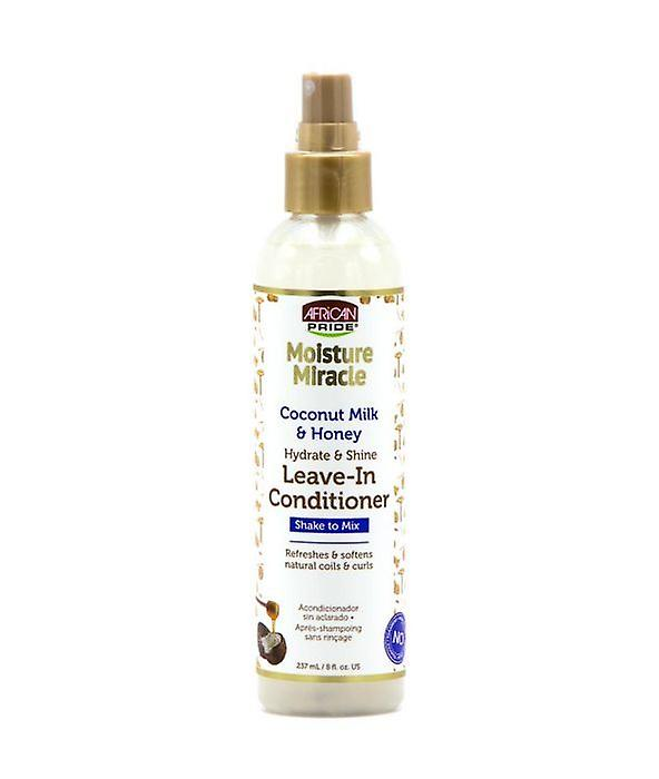 African Pride Moisture Miracle Coconut Milk & Honey Leave In Conditioner Spray 8oz