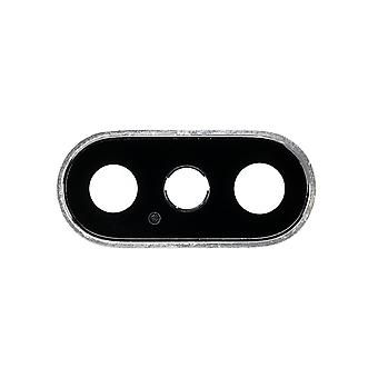 Rear Camera Lens With Bezel Silver For iPhone XS & XS Max