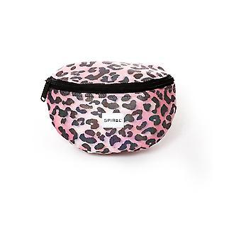 螺旋粉红闪烁豹式球袋