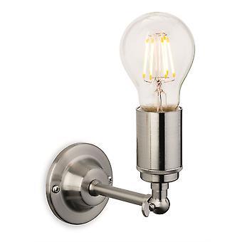 Firstlight - 1 Light Indoor Wall Light Brushed Steel - 7650BS