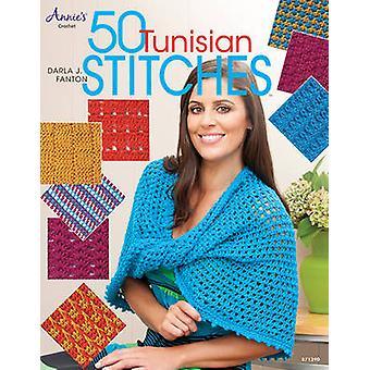 50 Tunisian Stitches by Darla Fanton - 9781596359314 Book