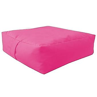 Pink Water Resistant Large Bean Floor Garden Slab Cushion Stool Pouffe