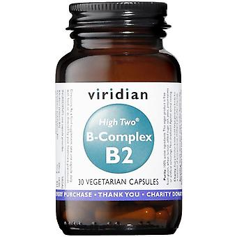 Viridian HIGH TWO Vitamin B2 with B-Complex Veg Caps 30 (235)