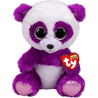 TY Beanie boos boom boom paarse Panda Knuffeldier pluche zacht 24cm