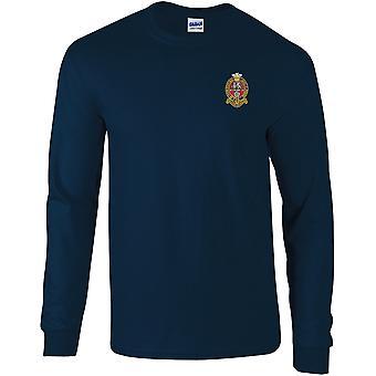 Prins af Wales eget regiment af Yorkshire PWRR-licenseret British Army broderet langærmet T-shirt