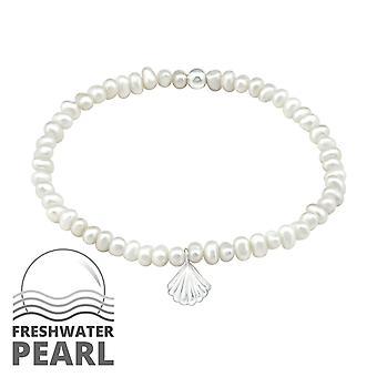 Shell - 925 Sterling Silver Chain Bracelets - W32440x