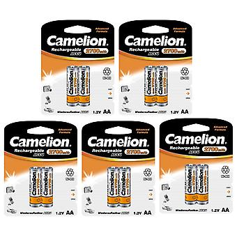10x Camelion rechargeable batteries AA NiMH 2700mAh battery