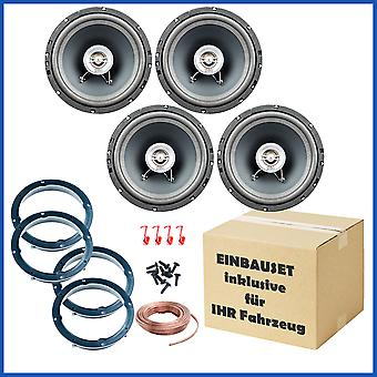 Car speakers front and rear suitable for Audi A3 from 7.03, A4, A4 Avant from 11.2000