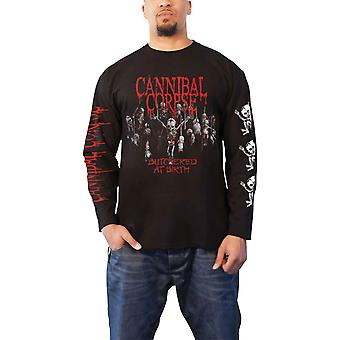 Cannibal Corpse T Shirt Butchered At Birth Baby Official Mens Black Long Sleeve