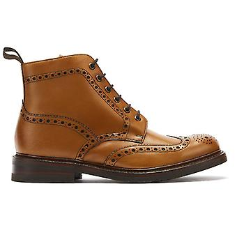 Loake Bedale Mens Tan Leather Brogue Boots
