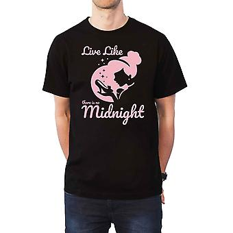 Cendrillon T Shirt Disney Princess Midnight nouveau officiel Disney Mens Black