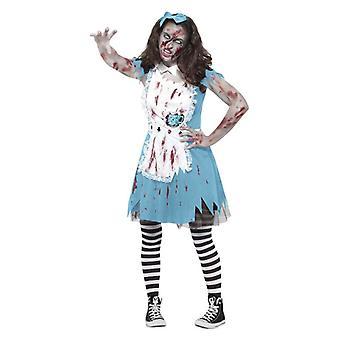 Meninas Zombie Tea Party Halloween fantasia vestido traje