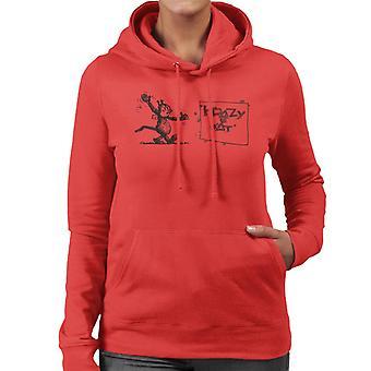 Krazy Kat Wave Women's Hooded Sweatshirt
