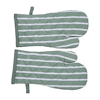 Penguin Home Stripe S/2 Gauntlets, Cotton, 2pc Set