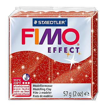 Fimo Effect Modelling Clay, Red Glimmer, 57 g
