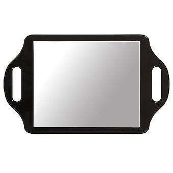 TRIXES Hairdressers Mirror Salon Handheld with 2 Handles Professional Barbers