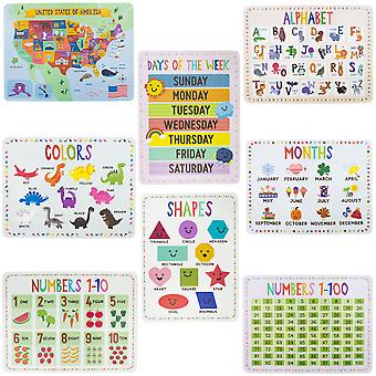 8-pack Classroom Posters 17'' x 22''