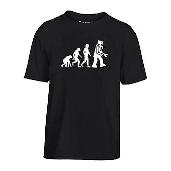 T-shirt bambino nero dec0078 evolucion robot