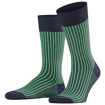 Falke Oxford Stripe Socks - Marinha marinha/verde