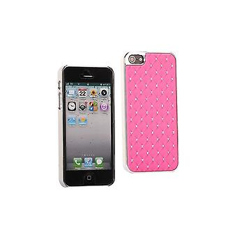 Plastic Shell With Strass On Rose Background For IPhone 5