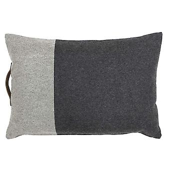 Riva Home Bloc Two Toned Polyester Filled Cushion With Leather Handle