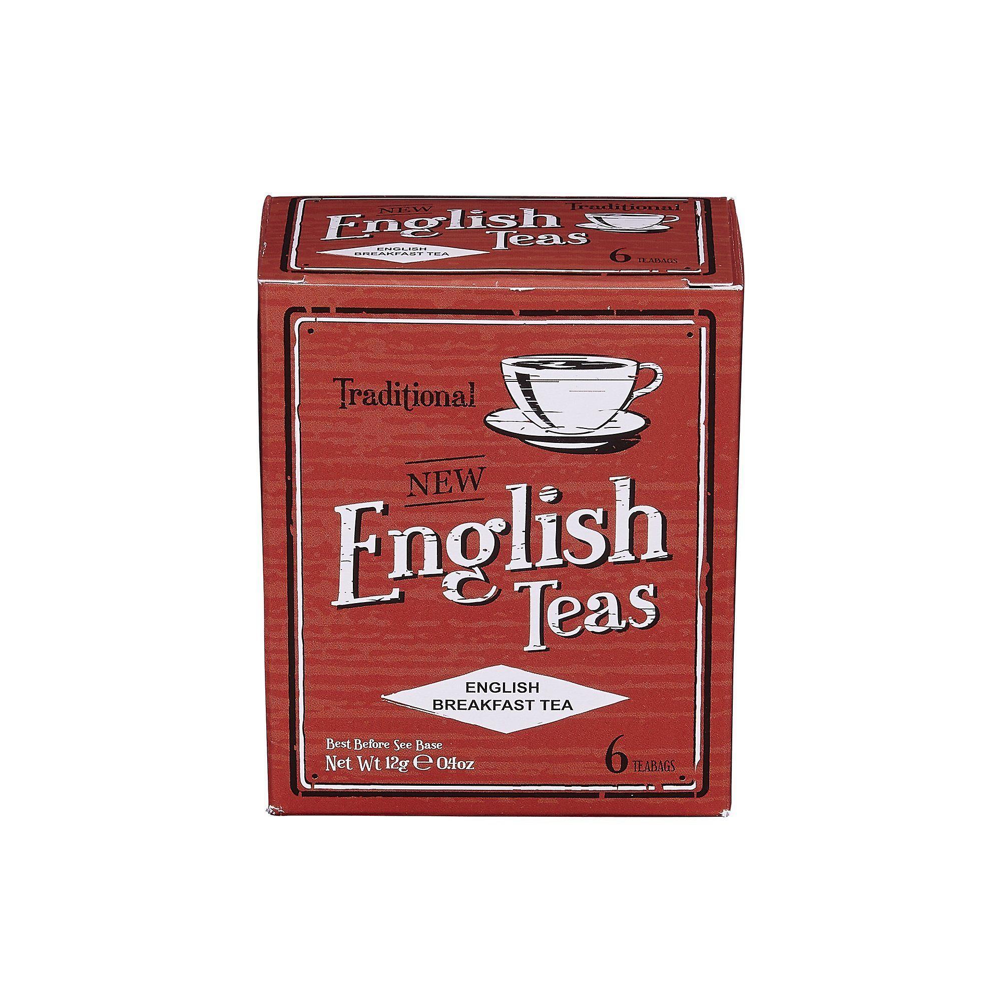 Vintage english breakfast tea 6 teabag carton