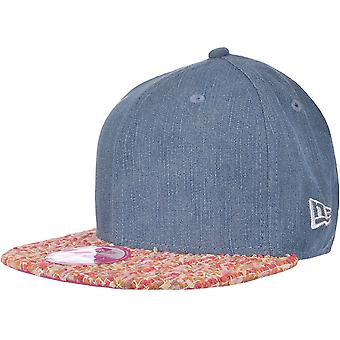 New Era Womens Weave Visor 9FIFTY Snapback Baseball Cap Hat - Denim - OSFA