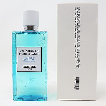 Hermes Un Jardin En Mediterranee Body Shower Gel  6.5oz/200ml New In White Box