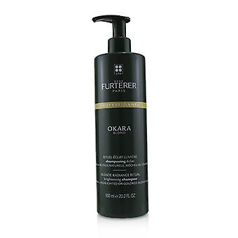 Rene Furterer Okara Blond Blonde Radiance Ritual Brightening Shampoo - Natural, Highlighted or Colored Blonde Hair (Salon Product) 600ml/20.2oz