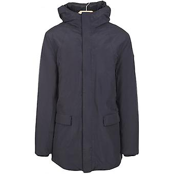 Armani Jeans 6x6k77 Hooded Blue Down Jacket