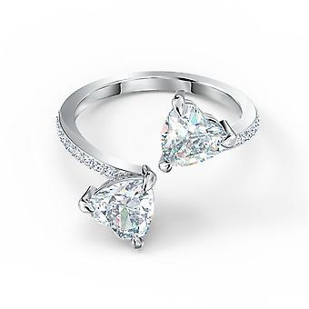 Swarovski Ring 5535192-Kvinnors vit kristall rhodi m tal ring
