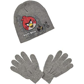 Мальчики Сердитые птицы 2 шт комплект шапка & перчатки