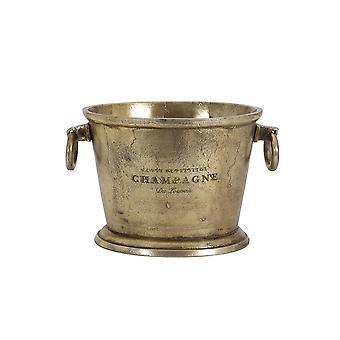 Licht & Leben Champagner Kühler 39x25x25cm Cristal antike Bronze