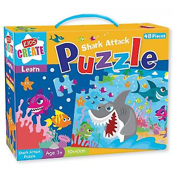 Kids Create Shark Attack Puzzle