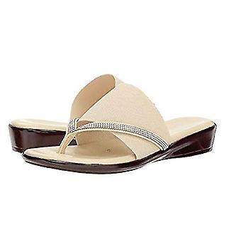 ITALIAN Shoemakers Women's LUXI Sandal, Nude, 7 Medium US