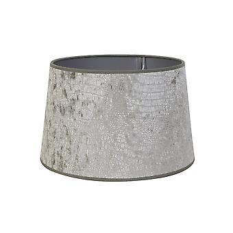 Light & Living Round Shade 25x19x16cm Chelsea Velours Silver