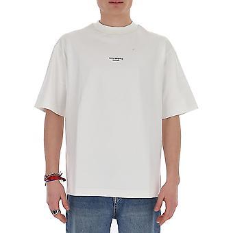 Acne Studios Bl0156optikweiß Herren's weiße Baumwolle T-shirt